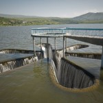 Водосброс на водохранилище в Армении